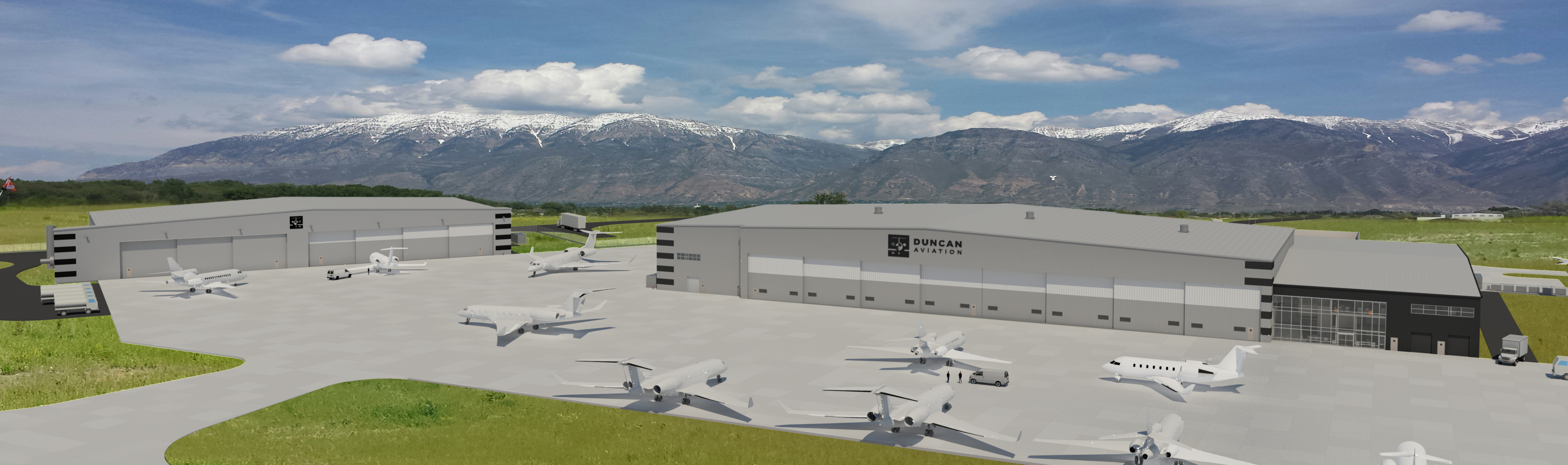 Duncan Aviation Provo, UT Expansion Rendering